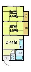NK常盤[3階]の間取り