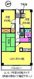 大阪府堺市中区堀上町の賃貸マンションの間取り