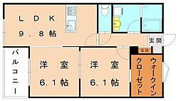 キミエ福津レジデンス[3階]の間取り