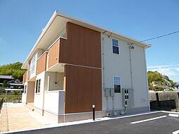 岡山県倉敷市真備町尾崎の賃貸アパートの外観