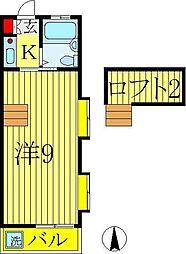 コーポスカイ[2階]の間取り