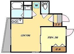 FACTORY NAKAMEGURO 地下1階1LDKの間取り
