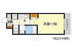 インザグレイス桜ノ宮[7階]の間取り