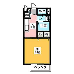 ハピネスMI[2階]の間取り