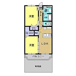 アプローズ平松[1階]の間取り