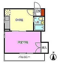 第1ホウライツルハウス[102号室]の間取り