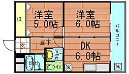 リヴィング宏建[5階]の間取り