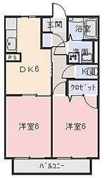 ファミーユスズキE[203号室]の間取り