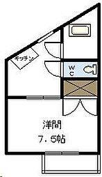 サンコーポ21[305号室]の間取り