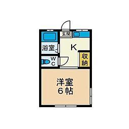 ハイツすずき[2階]の間取り