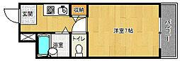 京都府京都市伏見区西大黒町の賃貸マンションの間取り