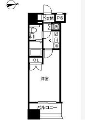 東京都港区港南3丁目の賃貸マンションの間取り