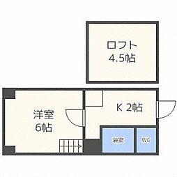 北海道札幌市東区北三十一条東2丁目の賃貸マンションの間取り