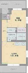 静岡県駿東郡長泉町南一色の賃貸マンションの間取り