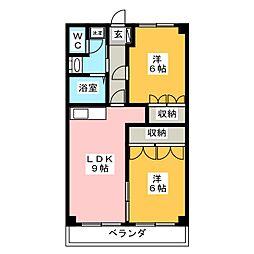 吉田IIマンション[4階]の間取り