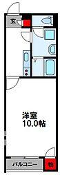 クレイノ伊岐須 2階1Kの間取り