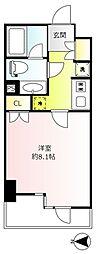 クレヴィア小石川後楽園 2階1Kの間取り