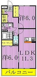 千葉県我孫子市柴崎の賃貸アパートの間取り