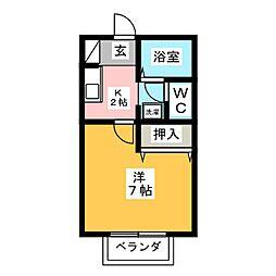 ホーリー秋津[1階]の間取り