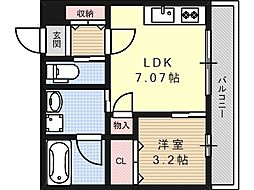 プルミエ京口[3階]の間取り