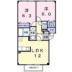 ミニヨン・アンジュⅡ[2階]の間取り
