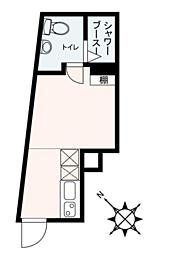 シェレーヴオオツカ 5階ワンルームの間取り