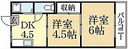 叡和ハイツ[2階]の間取り