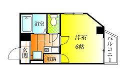 ハートフル藤井寺[4階]の間取り