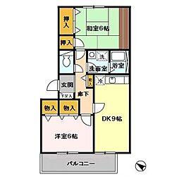 東京都多摩市豊ヶ丘1丁目の賃貸マンションの間取り