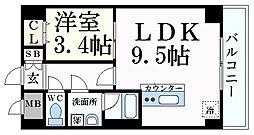 JR東海道・山陽本線 住吉駅 徒歩12分の賃貸マンション 4階1LDKの間取り