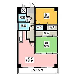 岩井通COSMOS[4階]の間取り
