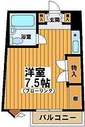 東京都杉並区永福2の賃貸マンションの間取り
