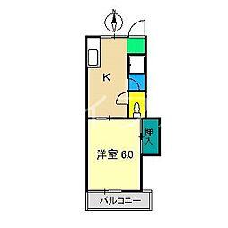 アバンギャルドドリーム[1階]の間取り