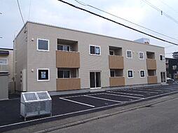 北海道札幌市清田区真栄二条1丁目の賃貸アパートの外観