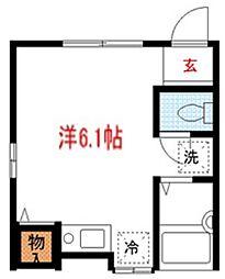 東京都品川区南大井4丁目の賃貸アパートの間取り