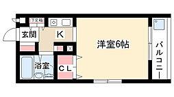 愛知県名古屋市名東区照ヶ丘の賃貸マンションの間取り