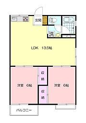 パークハウスA[2階]の間取り