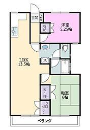 コーポ遠藤[1階]の間取り