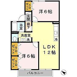 コンフォールK[2階]の間取り
