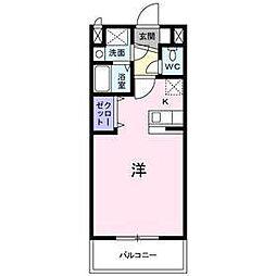 アーデント・インプレス A[1階]の間取り