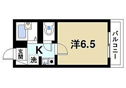 奈良県奈良市三碓3丁目の賃貸アパートの間取り