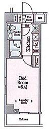 都営浅草線 本所吾妻橋駅 徒歩10分の賃貸マンション 2階1Kの間取り