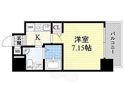 Osaka Metro御堂筋線 江坂駅 徒歩4分の賃貸マンション 7階1Kの間取り