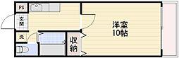 長野県長野市若里3丁目の賃貸マンションの間取り