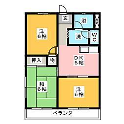 エクセル浅井 B棟[2階]の間取り