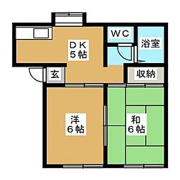 ラ・シャンブル櫻小路[1階]の間取り