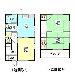 [テラスハウス] 兵庫県赤穂市若草町 の賃貸【/】の間取り