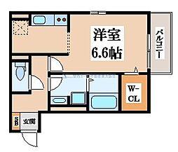 セジュールユイット西岩田[1階]の間取り