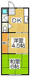 鳴海ハイツ[2階]の間取り