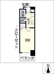CK錦レジデンス[3階]の間取り